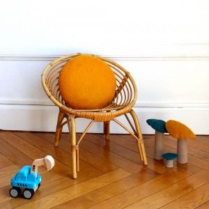 fauteuils pour enfant en rotin